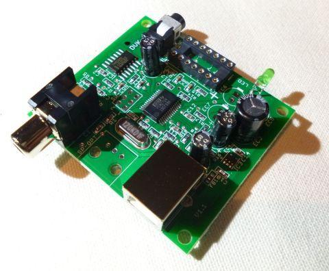 USBとデジタル出力側