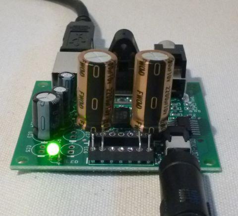 ニチコンFWシリーズ定格電圧10V、2200μF搭載
