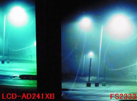 ライトの部分の白飛びしない諧調表現や灯りに舞う虫?の粒状感が違う