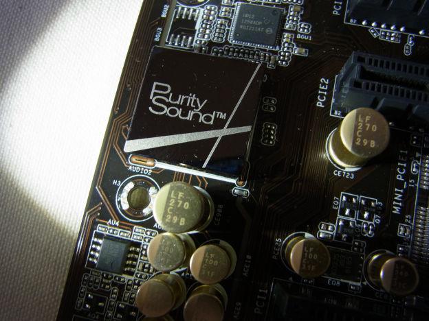 「Purity Sound」の刻印が入ったシールドに覆われたオーディオチップ
