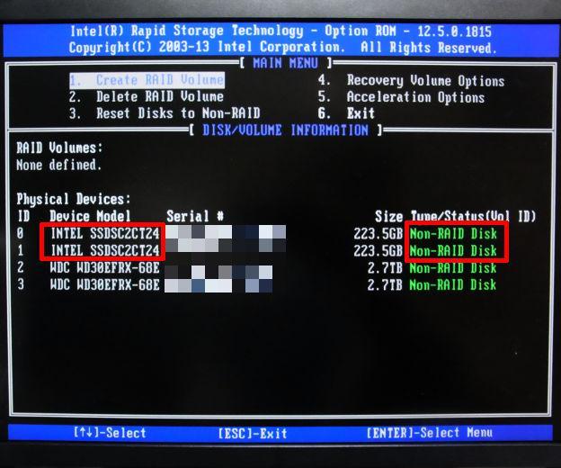 当然最初は「Non-RAID Disk」