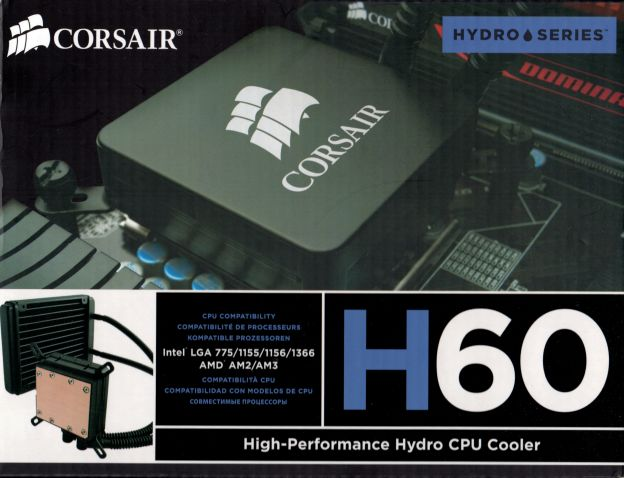 CORSAIRの簡易水冷H60の旧パッケージ