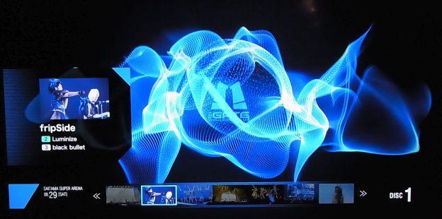 BD内蔵TVで再生した時の曲選択画面
