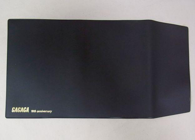 黒ビニール製の文庫サイズブックカバー