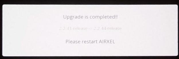 (読み取りづらいが)2.2.41⇒2.2.44にヴァージョンアップ完了!