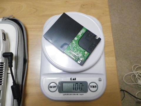 HDDの重さ