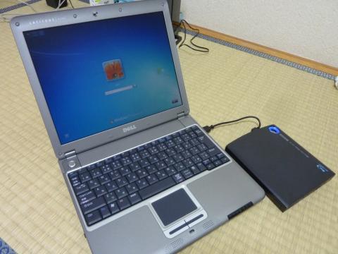 DELL X300とポータブルドライブ