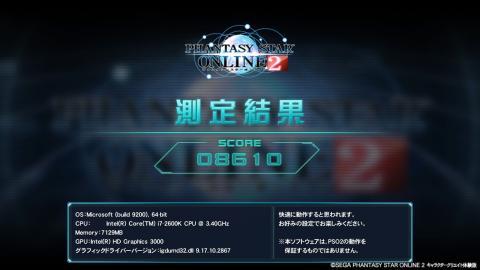 HD 3000 簡易設定 1 スコアー:8610 (C)SEGA
