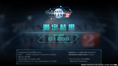 HD 4000 簡易設定 3 スコア―:1206 (C)SEGA