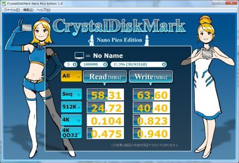 ClystalDiskMark