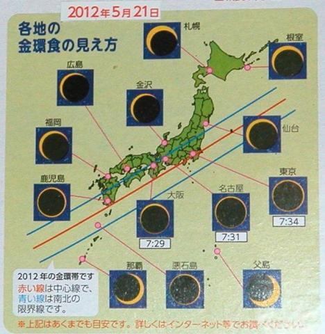 各地の日食 見え方