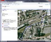 Googleのマイマップで確認(IS01)