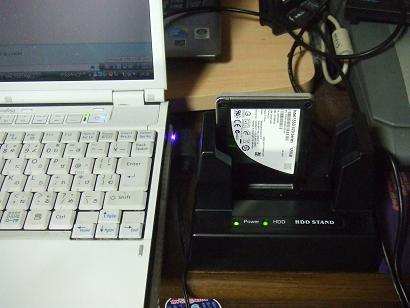 SSDにデータをコピーする様子