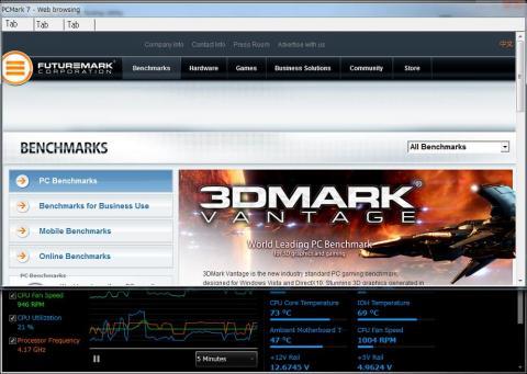 PCMARK7の様子