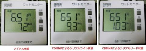 ST2000DM001の消費電力実測例