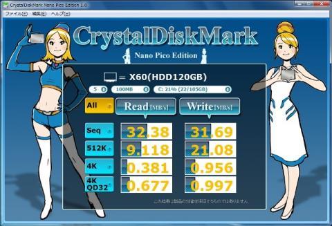 HDD CrystalDiskMark100MB
