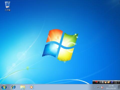 Windows7起動完了