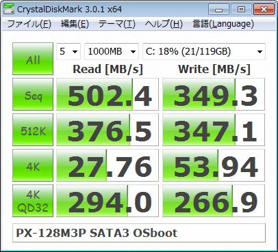 OSインストール後(ASUS P8Z68-V PRO/GEN3)