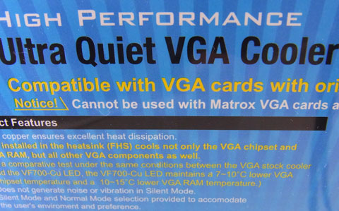 Cannot be used with Matrox VGA