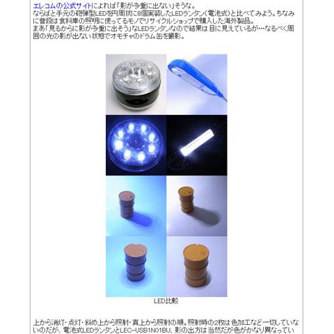 LEDライトのテストにも使われる。