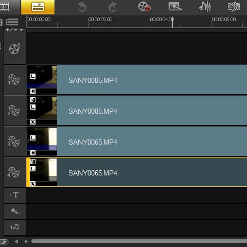 調整したいビデオクリップをダブルクリックして
