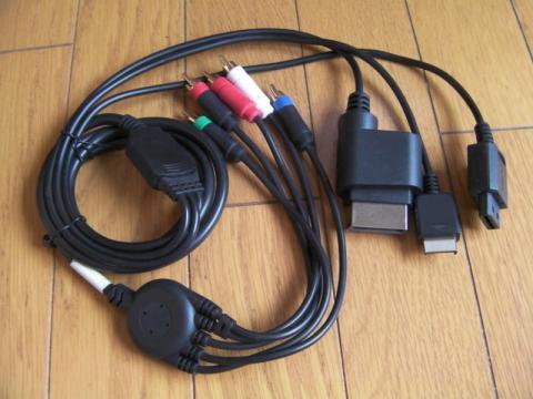 PS3接続用コンポーネントビデオゲーミングケーブル