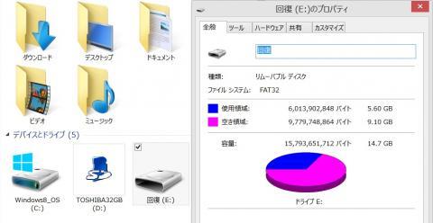micro SDカードが回復に変わっています