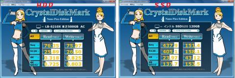 CrystalDiskMark比較