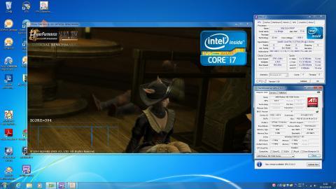 FF14ベンチ中のCPU-Z/GPU-Z