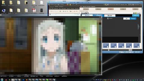 docomoSH-12cが持ってる動画ファイルをalimoのコントロールで呼び出しi7ノートのWMPに表示させています(大人の都合で一部画像処理されてますw)
