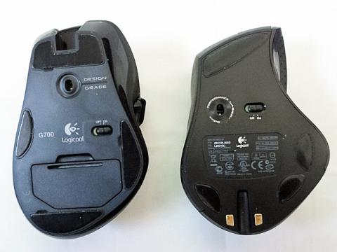 裏面 (左:G700 / 右:MX-R)