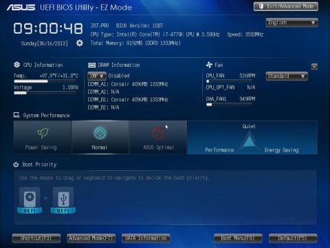 BIOS EZ Mode