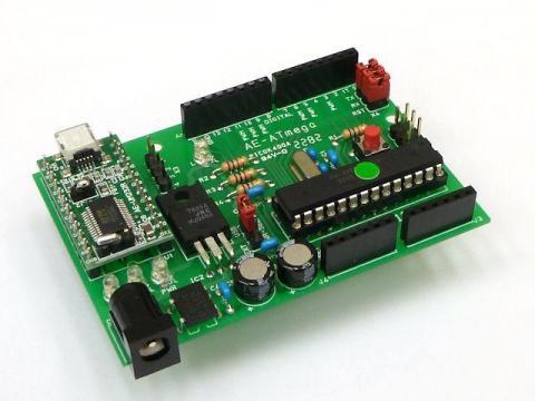 秋月CPUボード制作例