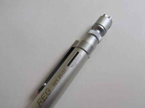 芯送り長さ最大の状態(2mm)