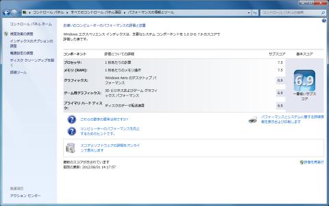 Core i5-3570K エクスペリエンス インデックス