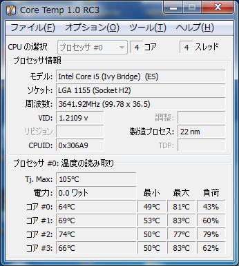 CoreTemp Core i5-3570K