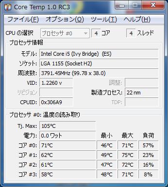 CoreTemp i5-3570K@OCGene