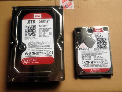WD10EFRXとWD10JFCX