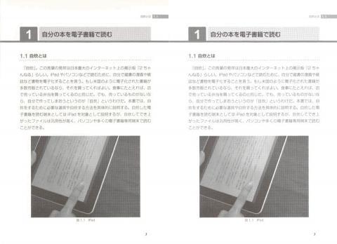 左:画像サイズ変換  右:画像サイズ変換+コントラスト調整(+10)
