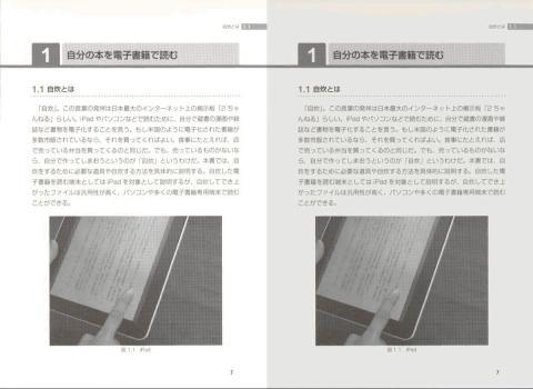 左:画像サイズ変換  右:画像サイズ変換+コントラスト調整(-10)