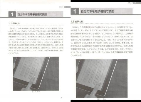 左:画像サイズ変換  右:画像サイズ変換+自動余白カット