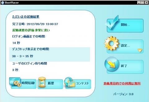 メモリ増設後(4GB)