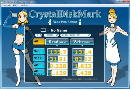 CrystalDiskMark Nano Pico