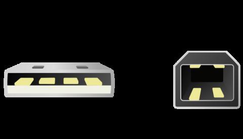 USBのコネクタ仕様(from Wikipedia)