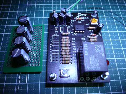 タクトスイッチは検証用に取り付け。