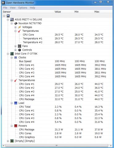 Hardware Monitor【自作PC・ノーマル】