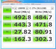 インテルSSD520(120GB)【解消後・CrystalDiskMark(ベンチマークテスト)】