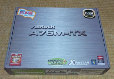 ASRock Socket FM1対応 Mini-ITXマザーボード A75M-ITX