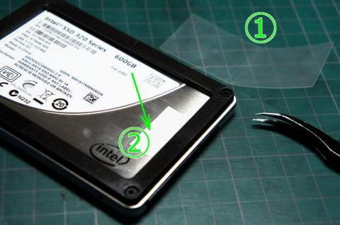 タブの作成と両面テープ貼付