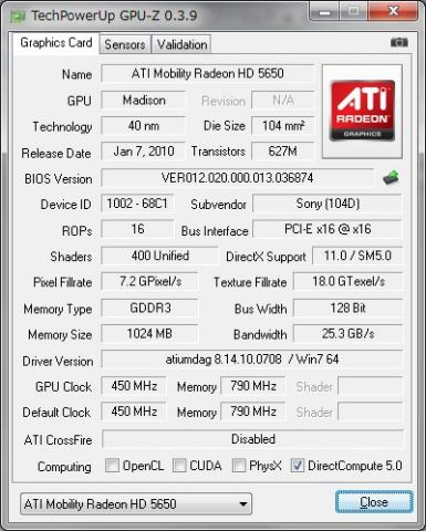 Mobility Radeon HD 5650